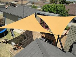 diig Outdoor Sun Shade Sail Canopy,2 PCS 12′ x 12′ x 12′ Triangle Shade Cloth ...