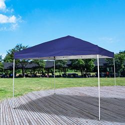 Homevibes 10′ x 10′ Pop up Canopy Tent Ez up Portable UV Coated Outdoor Garden Comme ...