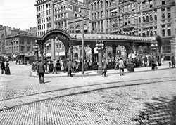 Restored Black & White Photo – Historic Seattle, Washington – The Pergola in Pio ...
