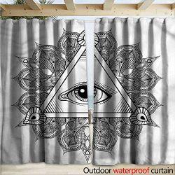 warmfamily Eye Drape for Pergola Vintage Tattoo Boho Occult W120 x L108