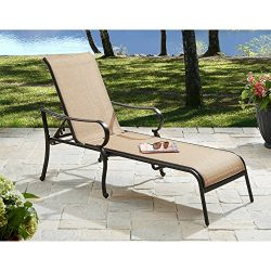 This Set of 2 Patio Lounge Chairs Made of Stain Resistant and Quick Drying Fabric Are Perfect to ...