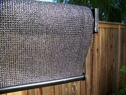 Petra's Indoor/Outdoor 6 x 6 Ft. Roll Up Solar Sun Screen. Window Shade/Blind w/UV Protect ...