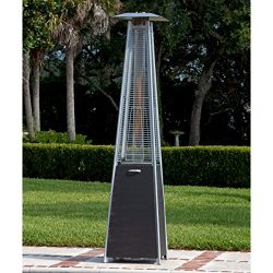 Top Selling Best Outdoor High Heat Propane Real Flame Fire Pyramid Brushed Bronze Steel Tower Pa ...