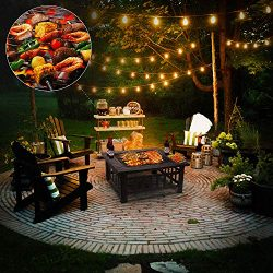 "femor 32"" Fire Pit Table Outdoor, Multifunctional Patio Backyard Garden Fireplace Heater/B ..."