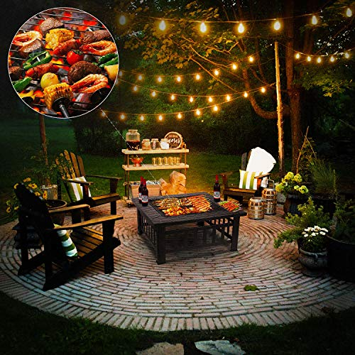 Flagstone Patio With Fire Pit And Grill