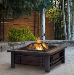Patio Furniture-Premium® Wood Burning Fire Pit-Patio Fire Pit-Ideal Centerpiece For Keeping Fami ...