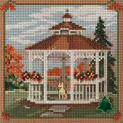 Mill Hill Gazebo Beaded Counted Cross Stitch Kit 2018 Buttons & Beads Autumn MH141825 Countr ...