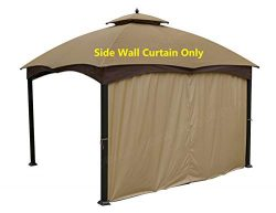 APEX GARDEN Universal 12′ Privacy Panel Curtain for 10′ and 12′ Gazebo (Side W ...
