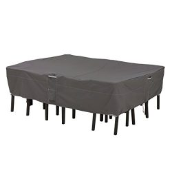 Classic Accessories 55-154-035101-EC Ravenna Oval/Rectangle Patio Table and Chair Cover, Medium, ...