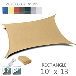 Love Story 10′ x 13′ Rectangle Sand UV Block Sun Shade Sail Perfect for Outdoor Pati ...