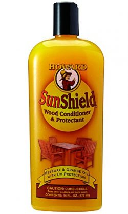Howard SWAX16 SunShield Outdoor Furniture Wax with UV Protection, 16-Ounce, Yellow