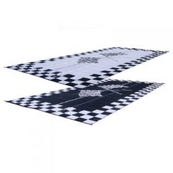 RV Patio Mat: 8×20 Racing Flags Finish Line Checkered Flags Awning Mat