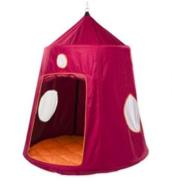HearthSong® Family HugglePod Hangout Outdoor Hanging Tree Tent Playhouse with Battery Operated I ...