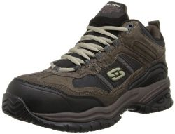 Skechers Men's Work Relaxed Fit Soft Stride Canopy Comp Toe Shoe, Brown/Black – 10 D ...
