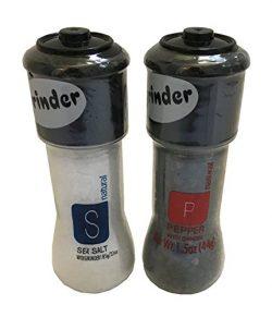 Sea Salt and Pepper Grinder Combo Pack – Sea Salt with Grinder 3.1oz Peppercorn with Grind ...