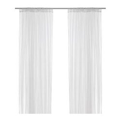 IKEA LILL Curtains Sheer Net White 2 Panels 110″ X 98″ Canopy Room Divider Voile