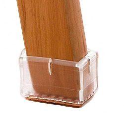 LimBridge Chair Leg Wood Floor Protectors, Chair Feet Glides Furniture Carpet Saver, Silicone Ca ...