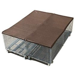 Alion Home UV Stable Dog Run & Pet Kennel Shade Cover, Sunblock Shade Privacy Panel with Gro ...