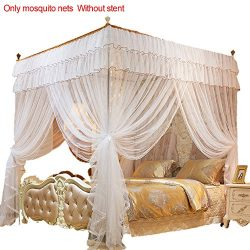 Samber 1.52M 4 Posters Pink Bed Canopy Princess Queen Mosquito Bedding Net Bed Tent Four Corners ...