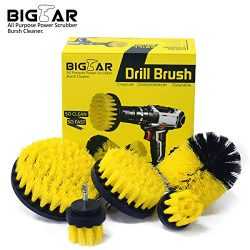 Bigear Drill Brush Attachment Kit – Stiff Medium Soft Nylon Bristle – Turbo Spin Pow ...