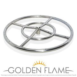 18″ Round Fire Pit Burner Ring (304 Series SS)