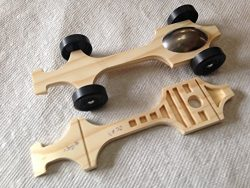 Winning Pinewood Derby Canopy Car #3 Full Kit (Tungsten Canopy) by Derby Dust®