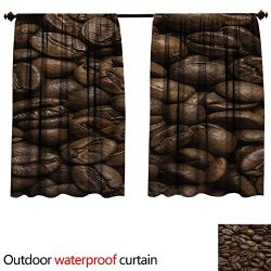 BlountDecor Coffeeupf Outdoor Curtain W55 x L45(140cm x 115cm) Flavored Roasted Arabica Beans Re ...