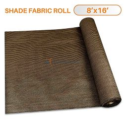 Sunshades Depot 8'x15′ Shade Cloth 180 GSM HDPE Brown Fabric Roll Up to 95% Blockage ...