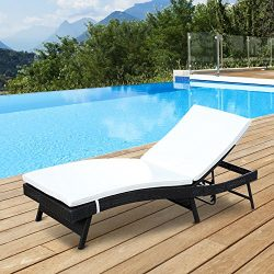 Clever Market Pation Outsunny Daybed Elegant Sun Lounger Adjustable Durable Pool Classic Poly Ra ...
