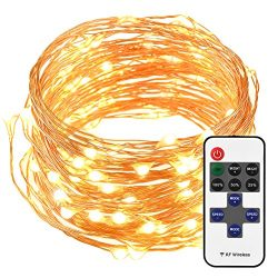 Mpow LED String Lights with Remote Control, 33ft 100LED Waterproof Decorative Lights Dimmable, C ...
