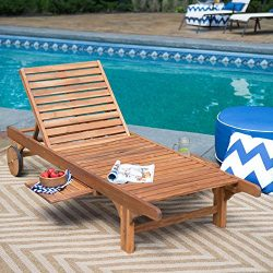Most Popular Hot Selling Solid Acacia Hardwood Outdoor Weather Resistant Pool Deck Patio Chaise  ...