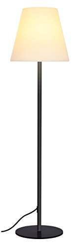 Brightech Nova LED Tall Outdoor Standing Floor Lamp – Sturdy, Waterproof, Modern Design – Durabl ...