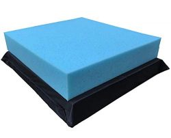QQbed 2 Pack Deep Seat Gel Cooling Memory Foam Seat Cushions Removable Waterproof Zipper Cover & ...
