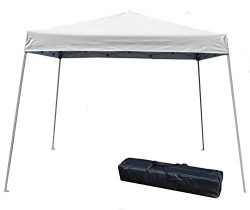 Impact Canopy 10′ x 10′ Pop-Up Canopy Tent, Instant Slant-Leg Portable Shade Tent wi ...