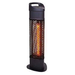 Star Patio Outdoor Freestanding Electric Patio Heater, Infrared Heater, Stable Black Column Heat ...