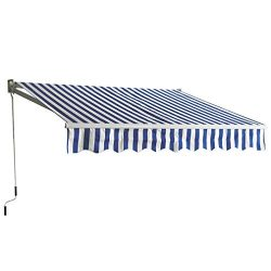 BestMassage Patio Manual Retractable Sun Shade Awning, Door awnings Canopy