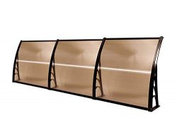 MCombo 40″×120″ Window Awning Outdoor Polycarbonate Front Door Patio Cover Garden Ca ...