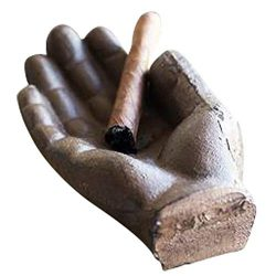 Cigar Ashtray – Cast Iron Hand Antique Ashtray – Use as Outdoor Ashtray or Indoors,  ...