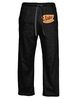 Ripple Junction Gilmore Girls Adult Lukes Logo Light Weight Pocket Lounge Pants LG Heather Charcoal