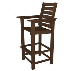 POLYWOOD CCB30MA Captain Bar Chair, Mahogany