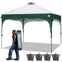 ABCCANOPY Pop-up Canopy Tent 10 x 10 Commercial Canopies Better Air Circulation Beach Canopy Ten ...