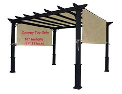 ALISUN Sling Canopy for The Lowe's Garden Treasures 10 FT Pergola #S-J-110 & TP15-048C ...