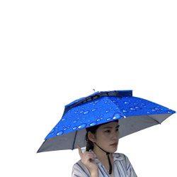 Umbrella Hat, Sttech1 Novelty Double Layer Sun Hat Golf Fishing Camping Fancy Dress Folding Head ...