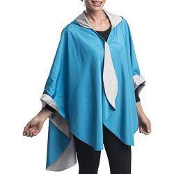 RainCaper Rain Poncho for Women – Reversible Rainproof Hooded Cape in Gorgeous Ultrasoft C ...