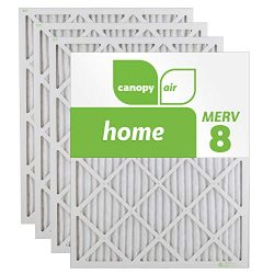 Canopy Air 16x25x1 MERV 8 (4 Pack) Dust Protection Air Filter for a Healthy Home, 16x25x1, Box o ...