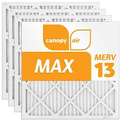 Canopy Air 20x20x1 MERV 13 (4 pack) MAX Allergen Protection Air Filter for a Healthy Home, 20x20 ...