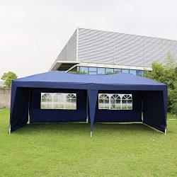 Kinbor Outdoor Portable Adjustable Instant Pop Up Gazebo Canopy Tent
