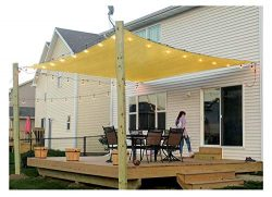 Patio Sun Shade Sail Canopy, 8′ x 12′ Rectangle Shade Cloth Outdoor Cover – UV ...