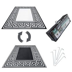 R.v. Patio Mat Awning Mat Outdoor Leisure Mat 9'x12′ 9'x18′ Grecian Comp ...