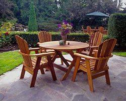 Rustic Natural Cedar Furniture 040048C RED Cedar 48″ Round Dining Table Furniture, Natural